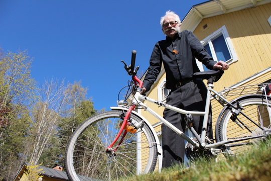 Kurt Fisk hoppas att sälja 60 cyklar eller fler. Foto: Fredrik Norman
