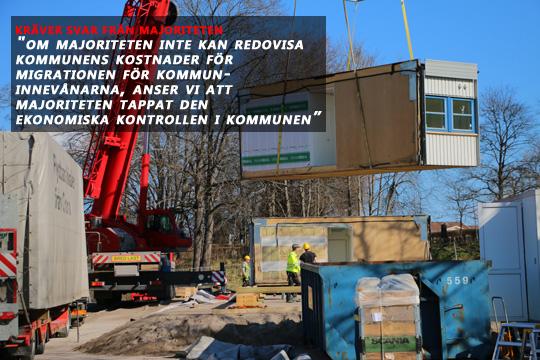Vad kostar ombyggda lokaler, modulbostäder etc, frågar fyra medborgare. Arkivfoto: Fredrik Norman