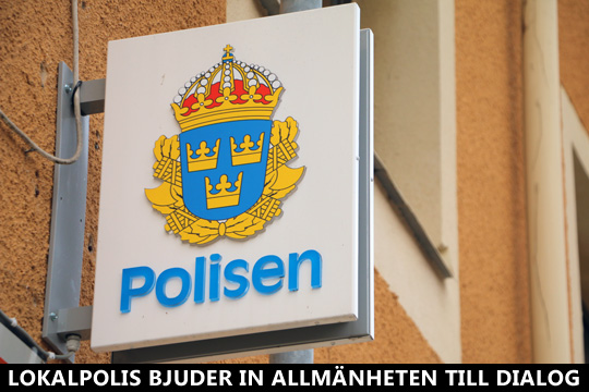 Polisen i Lindesberg bjuder in till dialog om brott och otrygghet. Foto: Fredrik Norman