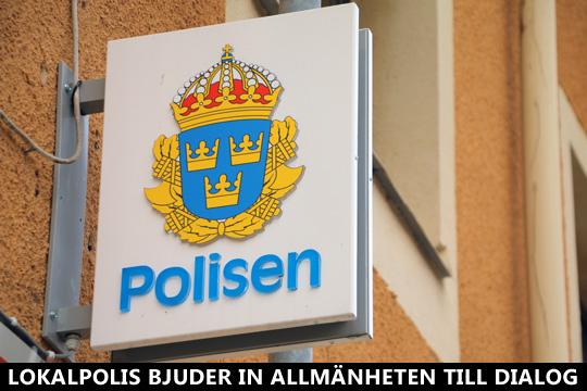 Polisen i Lindesberg bjuder in till dialog om brott och otrygghet. Foto: Fredrik Norman