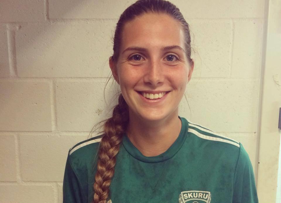 21-åriga Nathalie Fernandez Nilsson spelar idag sin andra SM-final i karriären. FOTO: Skuru IK