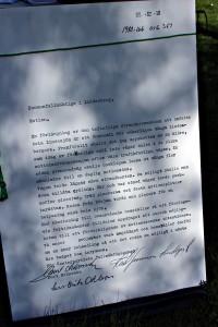 Klicka på bilden för att läsa motionen om Lindessjön runt i stort format. Foto: Ida Lindkvist