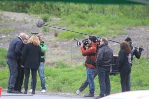 Inspelning pågår. Foto: Ida Lindkvist
