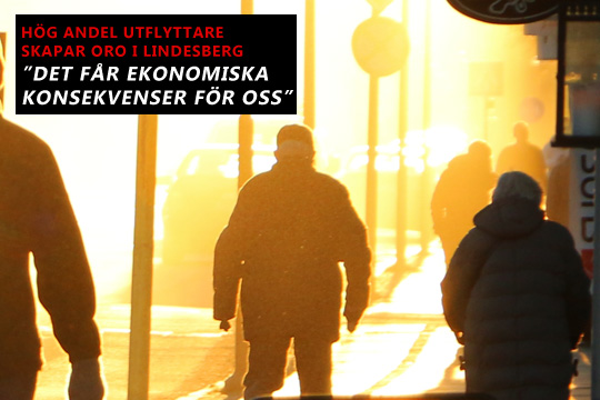 93 personer lämnade Lindesberg bakom sig bara i mars månad. Arkivfoto: Fredrik Norman