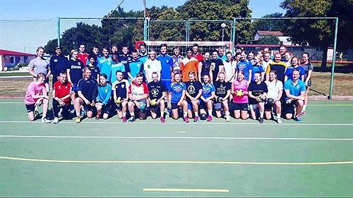 Totalt reste LIF Lindesberg med 46 aktiva till handbollslägret i Kroatien. FOTO: LIF Lindesberg