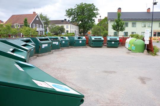 Centerpartiet ser hellre grönytor än gröna containers i centrum. Foto: Fredrik Norman
