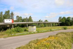 Här är det planerat att placera återvinningsstationen permanent. Foto: Fredrik Norman