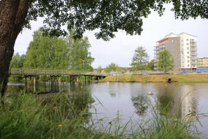 Här skall den nya båthamnen byggas. Foto: Fredrik Norman