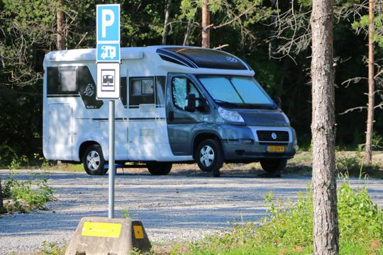 Övernattande har redan hittat till den nya turistanläggningen i Dalkarlshyttan. Foto: Fredrik Norman