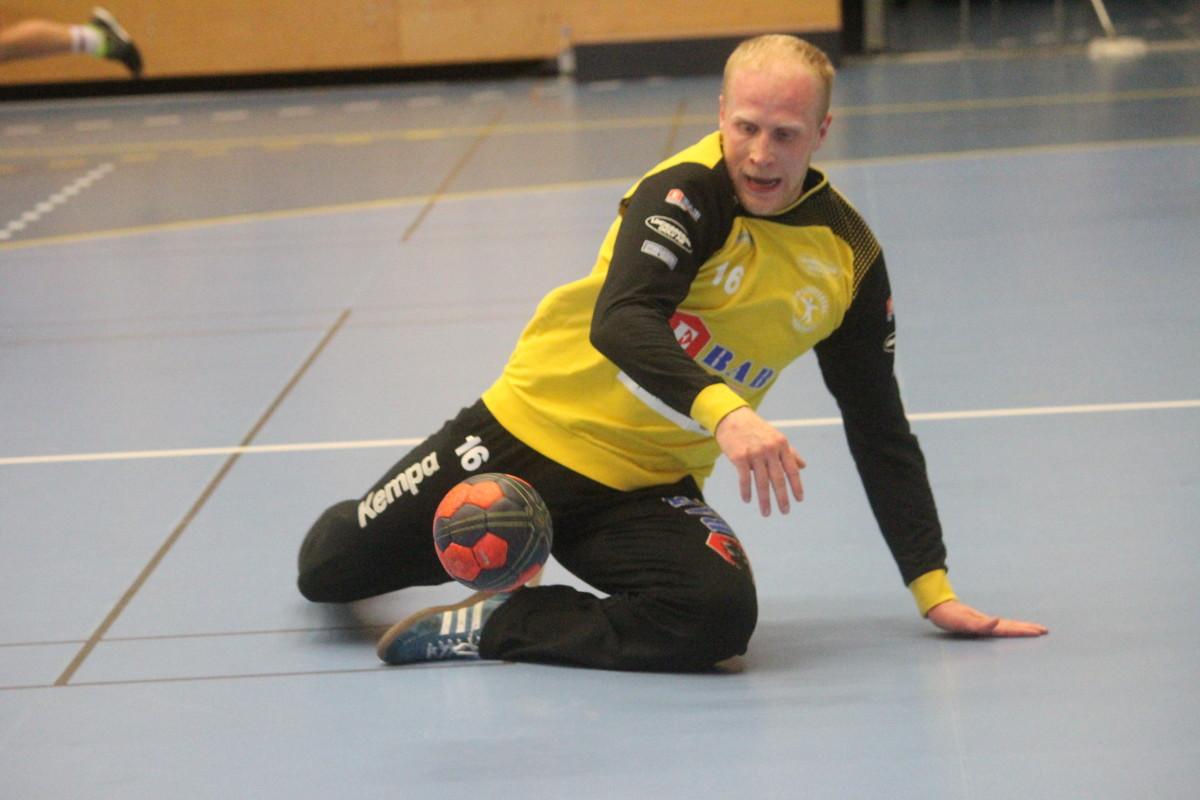 Förutom att rädda bollar stod Sébastien Ehnevid på söndagen även för ett mål. ARKIVFOTO: Hannes Feldin