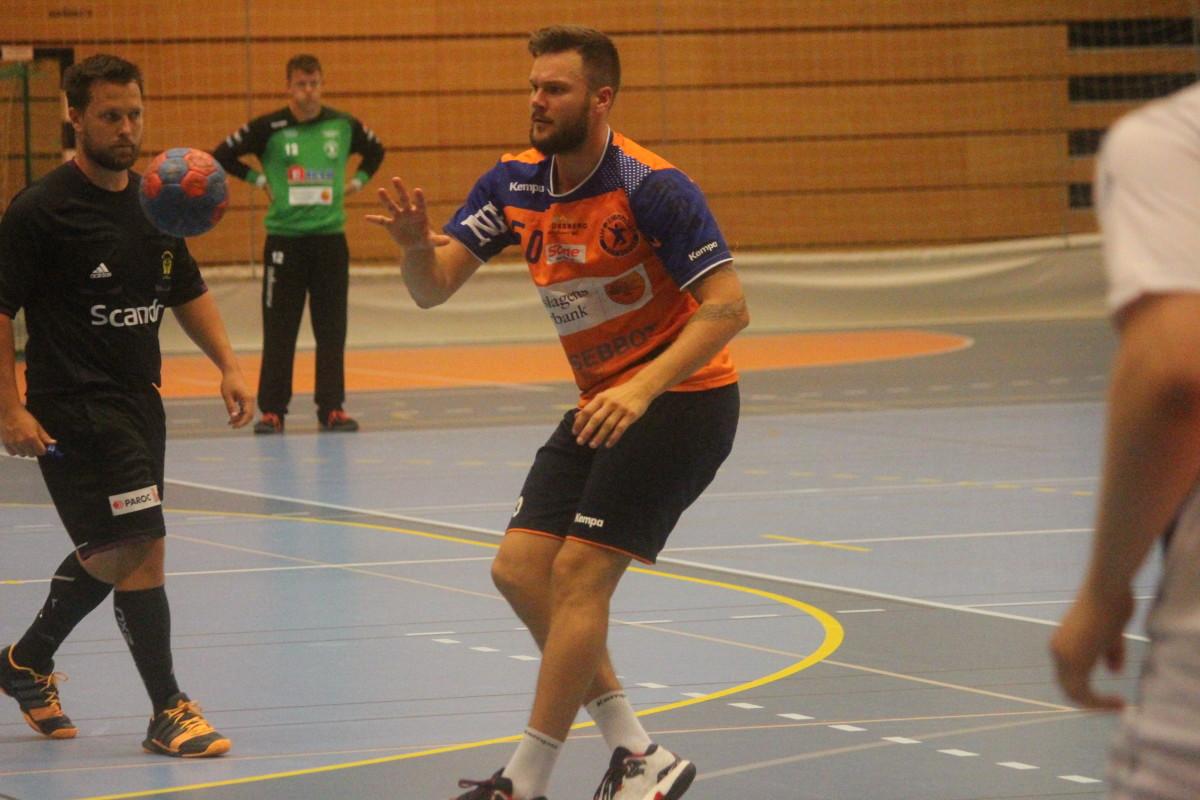 Joakim Bååk noterades för två fullträffar, det andra kom i öppet mål och gav LIF segern. FOTO: Hannes Feldin