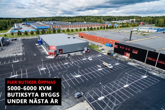 Den nya handelsplatsen får fler butiker redan nästa år. Foto: Fredrik Stenfelt