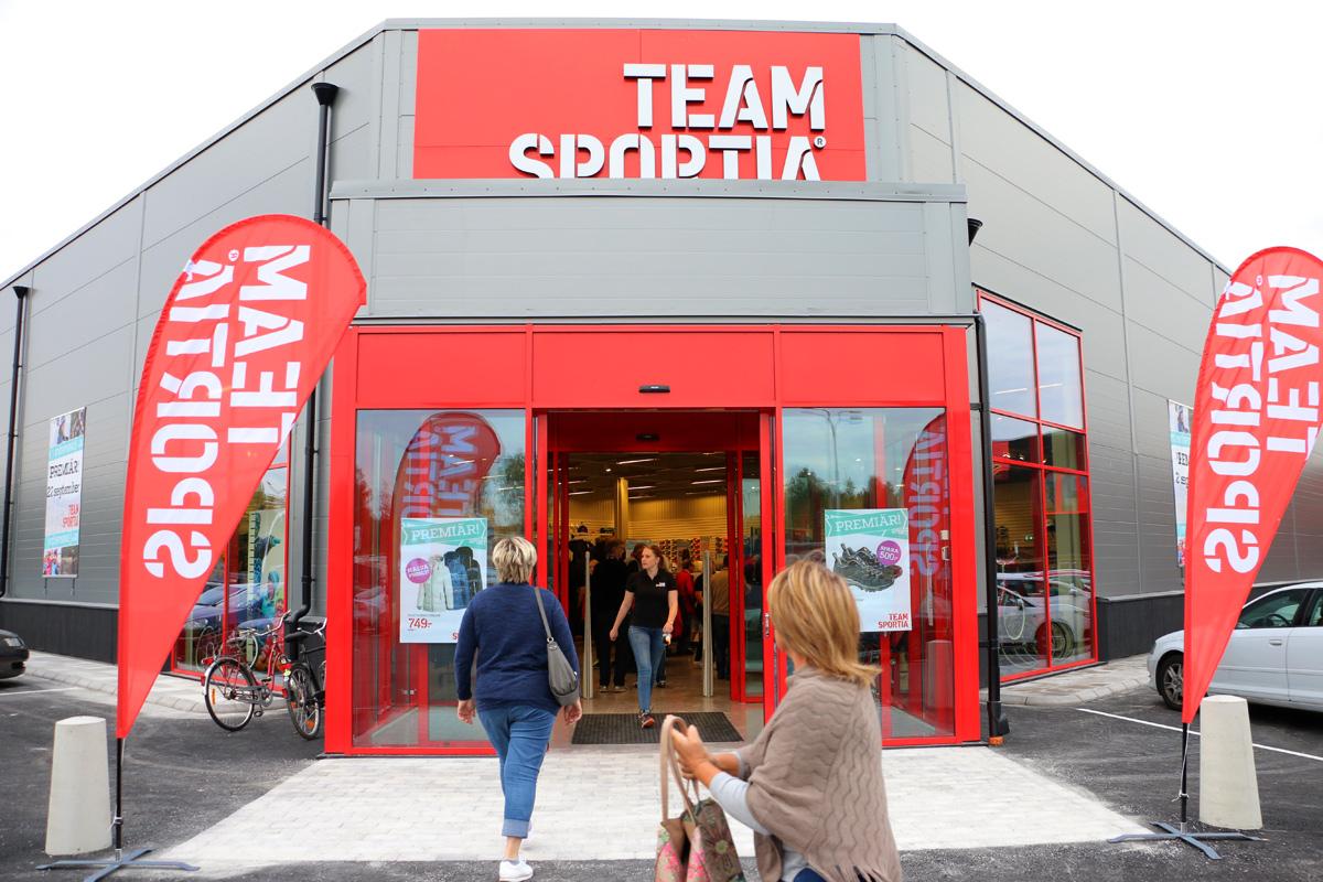 Team Sportia - granne till JYSK - premiäröppnade på torsdagsförmiddagen. Foto: Fredrik Norman