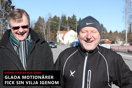 Centerpartisterna Jonas Kleber och Kurt Scharnke har anledning att vara glada idag. Foto: Fredrik Norman