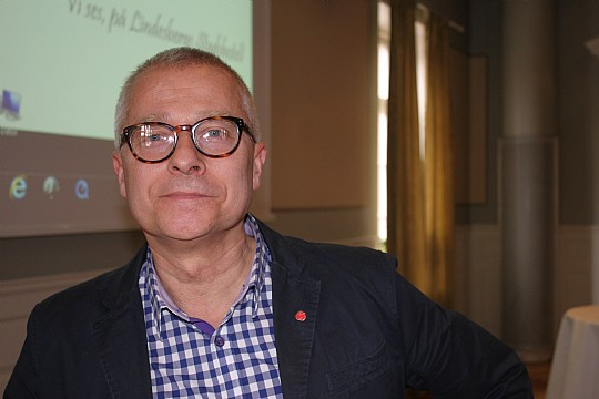 Bengt Storbacka, ordföranden för Socialdemokraterna i Lindesberg. Foto: Monika Aune