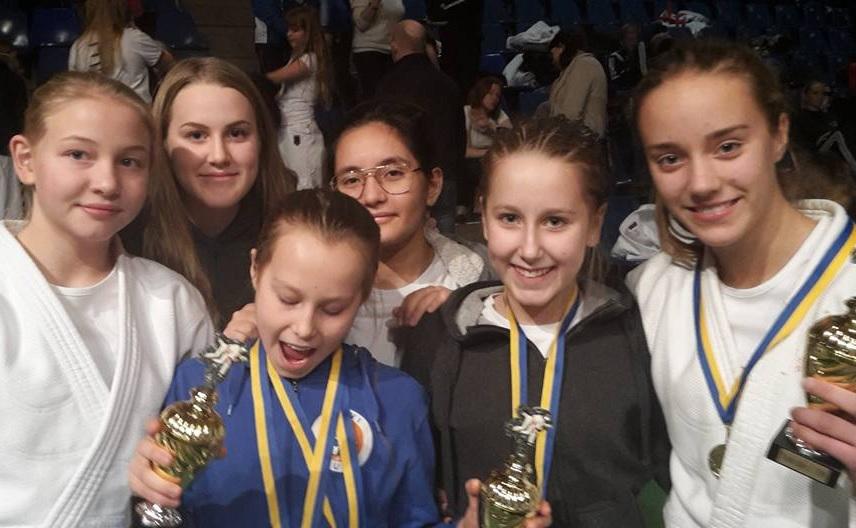 Frövis gäng vände hem från Trollhättan med sex guld, fyra silver och sex brons. FOTO: Frövi Judoklubb