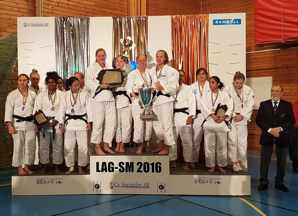 Guldglimmer kastades över SM-helgen i Oxelösund efter damernas förstaplats på mästerskapet. FOTO: Frövi Judoklubb