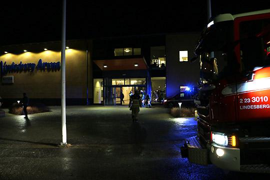 Lindesberg Arena utrymdes på onsdagskvällen. Foto: Fredrik Norman