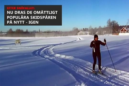 Skidåkning på golfbanan har blivit en populär vintertradition. Arkivfoto: Fredrik Norman
