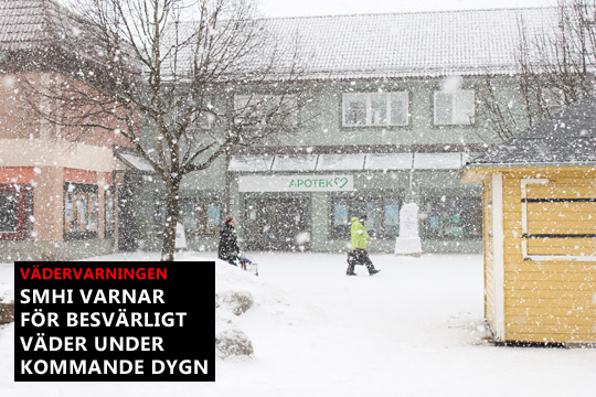 Kraftigt snöfall väntas över länet. Arkivfoto: Fredrik Norman