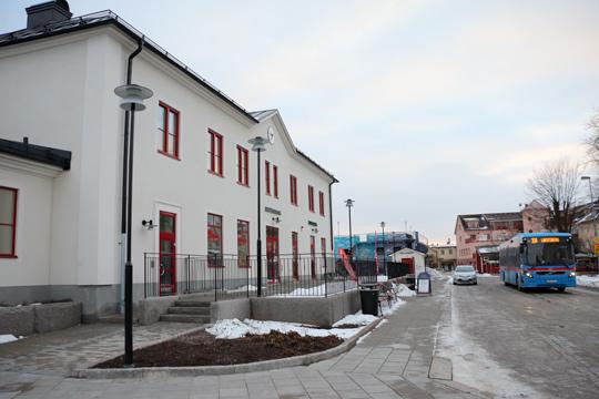 Nya stationshuset i Lindesberg. Foto: Fredrik Norman