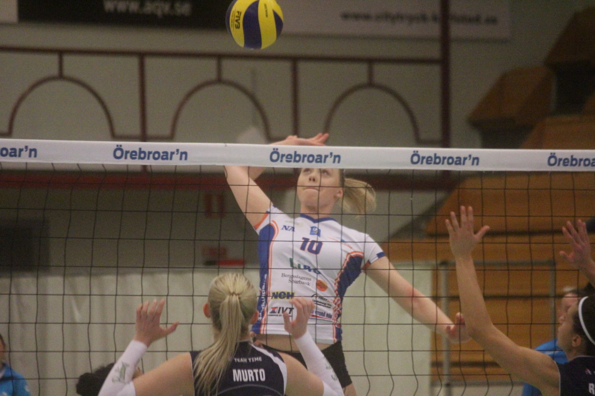 Lagkaptenen Elsa Arrestad stod för nio poäng i Lindes imponerande derbyvinst. FOTO: Hannes Feldin