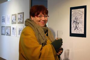Maria Odenheim Nielsen uppskattade humorn i konstverken.