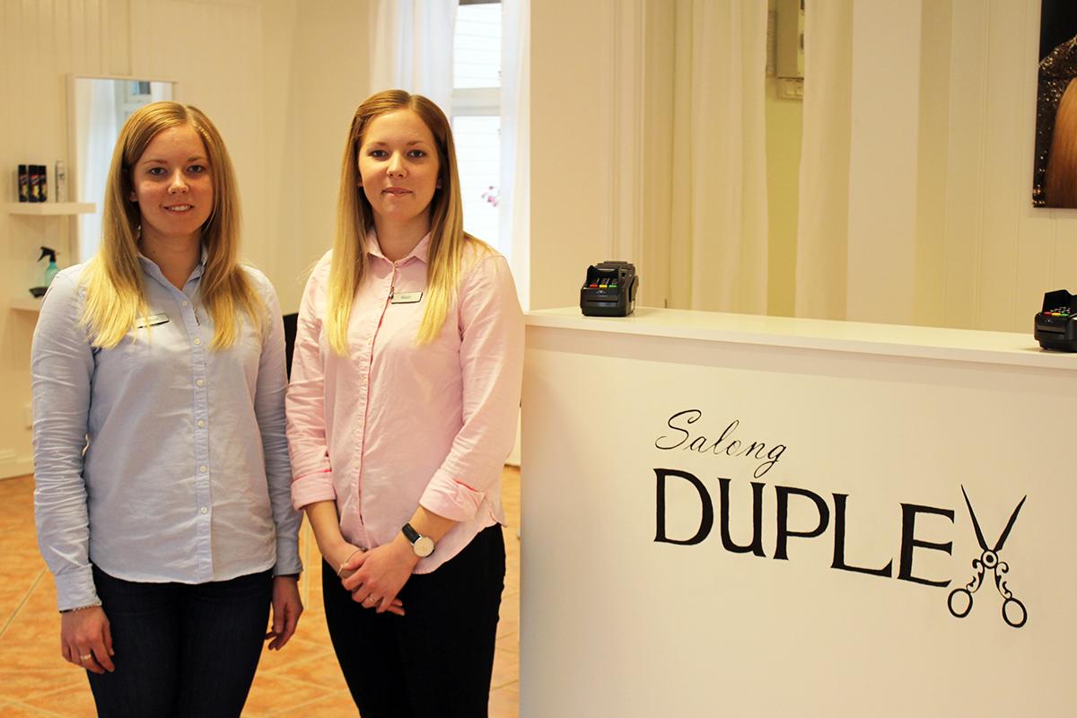 Matilda och Malin Lindberg förverkligar sin dröm, och öppnar egen salong. Foto: Camilla Lagerman