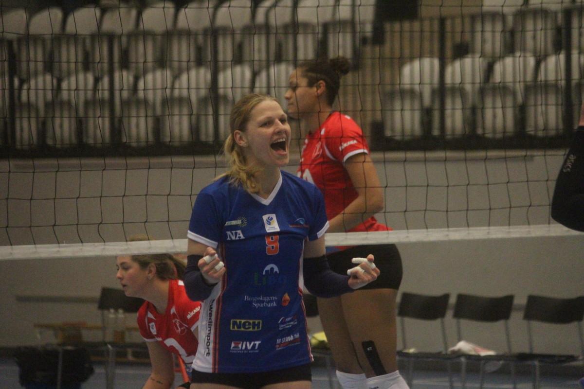 Agné Zakarauskaite Landin hoppade in och visade vägen i vinsten. FOTO: Hannes Feldin