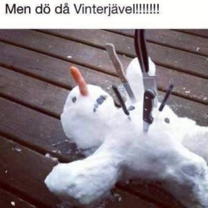 död snögubbe