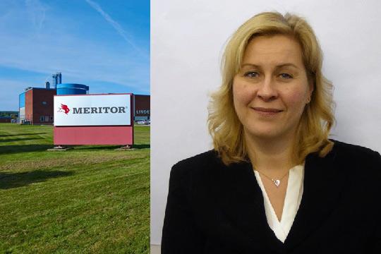 Laila Österholm tar över efter Tomas Bäckman, som arbetat som platschef på fabriken sedan 2011. Foto: Meritor