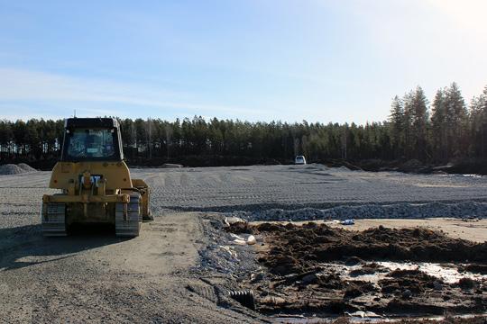 Här skall den 5500 kvm stora fabriken byggas. Foto: Camilla Lagerman