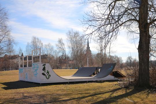 Rampen på Loppholmen utsatt för skadegörelse igen. Foto: Fredrik Norman