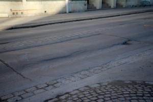 Stenläggningen plockas bort. Foto: Fredrik Norman