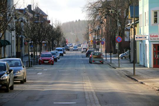 Kristinavägen i Lindesberg är i stort behov av underhåll. Foto: Fredrik Norman