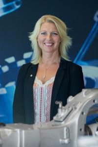 Ann-Louise Johansson är HR-chef och har hand om personalfrågorna på Meritor. Foto: Meritor