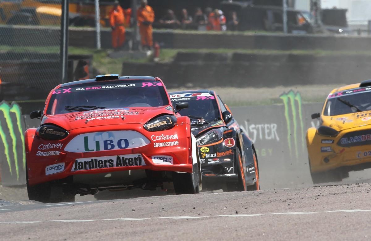 Dubbla skador på bilen gjorde att Philip Gehrman inte nådde final i Storbritannien. FOTO: Johnny Loix