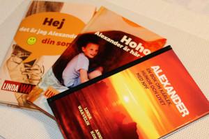 Tre böcker har det hunnit bli - än så länge. Foto: Camilla Lagerman