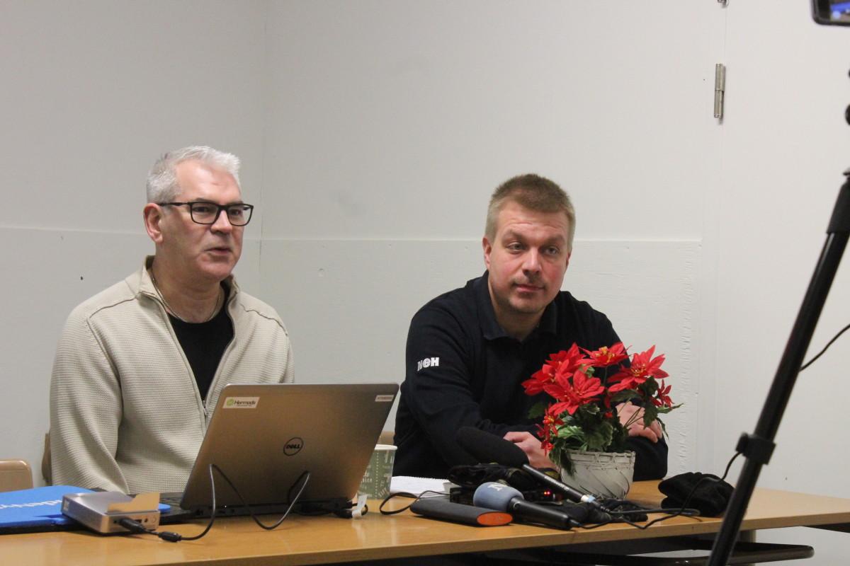 Både Perry Liljesvan och Jussi Salo är väldigt nöjda med att fortsätta arbetet. ARKIVFOTO: Hannes Feldin