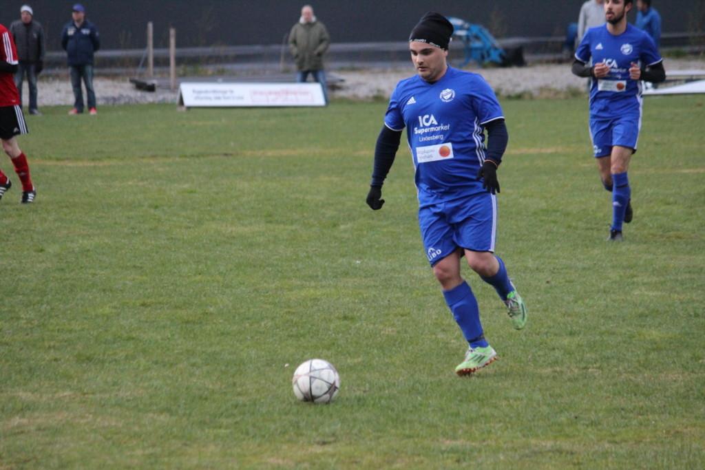 Flamur Ahmeti stod för IFK:s mål tidigt in i bortamötet. ARKIVFOTO: Hannes Feldin