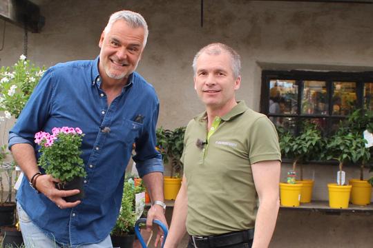Ernst Kirchsteiger stortrivs på Marco Åkessons Plantmarknaden. Foto: Jennie Larsson