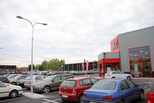Gallerian på den nya handelsplatsen kan inte byggas i år som det var tänkt. Foto: Fredrik Norman