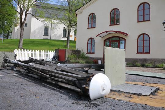 Stora värden förstördes i anlagd brand. Foto: Fredrik Norman