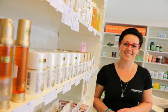 Eva Ahlström, Linde Hälsokost, har beslutat sig för att sälja butiken. Foto: Fredrik Norman