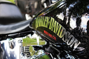 Ingen utställning utan en Harley närvarande - eller? Arkivfoto: Ida Lindkvist