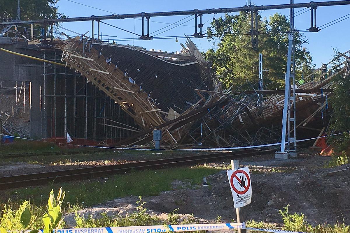Tågtrafiken påverkas till följd av broraset i Ludvika. Foto: Camilla Lagerman