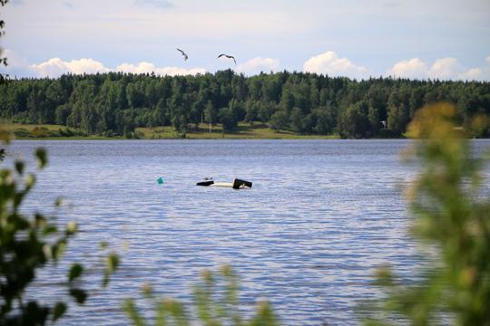 Gaser fick avloppsledning att flyta upp till ytan. Foto: Fredrik Norman
